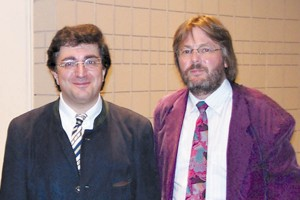 Sergie Babayan, left, with Lorenz Keyboard Concert Series Director Andreas Werz.