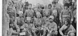 General Andranik, center, with volunteers. Photo from Armenian Volunteers (Tiflis, 1916).