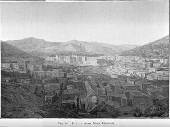 """Bitlis from Avel Meidan."" Fig. 146, from Armenia by H.F. B. Lynch, vol. II, Longmans, Green, and Co., 1901."