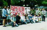 Armenian Students Organization and others bringing attention to the issue of the Armenian Genocide.
