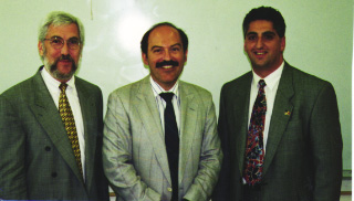 Left to right: Ross Vartian (Washington D.C.), Barlow Der Mugrdechian, and Peter Abajian (Los Angeles).