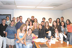 SO members at the first meeting of 2002-2003.