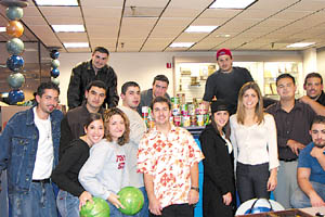 ASO members enjoying bowling at the ASO sponsored canned food drive at Fresno State.