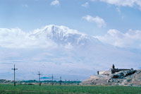 Monastery of Khor Virap with Mt. Ararat in the background.  Photo by Dr. Arra Avakian.