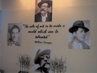 The William Saroyan Theatre in downtown Fresno was recently renovated and photos and sayings of William Saroyan now decorate the walls.