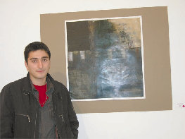Artist Hrach Vardanyan from Gyumri, Armenia, was a guest of the Fresno Gallery 25 in December 2008