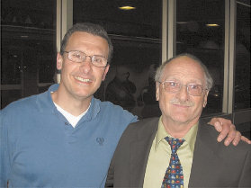 Former Hye Sharzhoom editor Mark Malkasian (left) with Dr. George Bournoutian