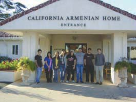 Students at the California Armenian Home.