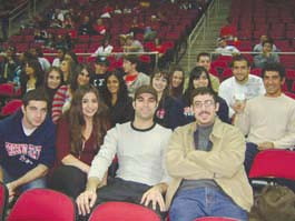 ASO members enjoying a Fresno State Basketball game at the Save Mart Center.