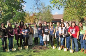 ASO members gathered at the November 2 groundbreaking.
