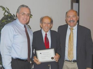 Left to Right: Barlow Der Mugrdechian, Dr. John Welty, and Dr. Sergio La Porta.