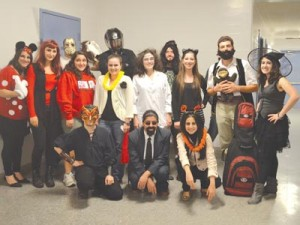 ASO members at the Halloween party.