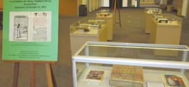 An exhibit featuring rare Armenian books and manuscripts opened in October in the Henry Madden Library.  Photo: Barlow Der Mugrdechian