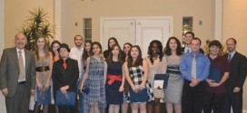 Students and faculty at the Armenian Studies Program 25th Annual Banquet held on March 17.  Photo: Artashes Frangulyan