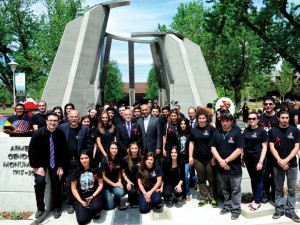 ASO students at the April 24 Genocide Commemoration.