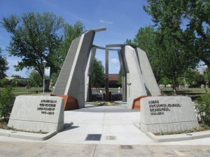 The Armenian Genocide Monument at Fresno State.