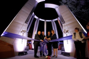 Ribbon cutting at the Armenian Genocide Monument.