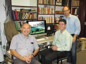 Left to right: Prof. Barlow Der Mugrdechian, Prof. Hagop Ohanessian, Dr. Sergio La Porta. Photo: ASP Archive