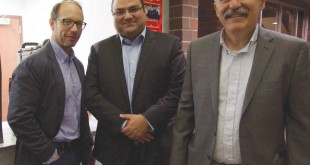 Left to right: Dr. Sergio La Porta, Dr. Bedross Der Matossian, and Prof. Barlow Der Mugrdechian. Photo: Hourig Attarian