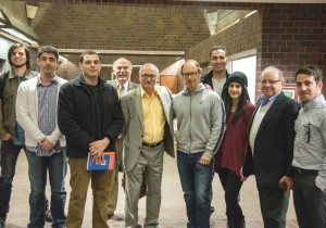 Left to right: Nathan Vanderhoof, Prof. Hagop Ohanessian, Aramayis Orkusyan, Prof. Barlow Der Mugrdechian, Dr. George Bournoutian, Dr. Sergio La Porta, Bako Oganyan, Luckie Ekezyan, Dr. Jack Zeldis, and Tadeh Issakhanian. Dr. Bournoutian's lecture provided fascinating insight into the historical period of the 1820's. Photo: Hourig Attarian