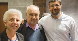 Left to right: Charlie Keyan Armenian Schol Principal Zar Der Mugrdechian, Greg Kohayan, and Ümit Kurt. Photo: Hourig Attarian