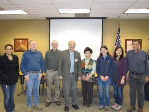 Prof. Barlow Der Mugrdechian, center, with members of the USDA Cultural Diversity Committee. Photo: ASP Archive