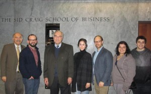 Left to right: Prof. Barlow Der Mugrdechian, Michael Rettig, Dr. Levon Chookaszian, Diana Gasparyan, Dr. Sergio La Porta, Marina Chardukian, and David Safrazian. Photo: ASP Archive