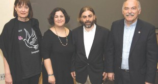 Left to right: Dr. Mary Husain, Directors Ela Almayac and Aren Perdeci, and Prof. Barlow Der Mugrdechian. Photo: Hourig Attarian