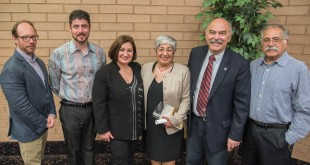 Left to right: Dr. Sergio La Porta, Prof. Hagop Ohanessian, Prof. Ani Kasparian, Fethiye Çetin, Prof. Barlow Der Mugrdechian, and Greg Gostanian. Photo: Hourig Attarian