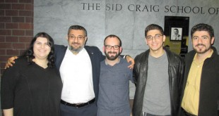 Left to right: Kara Statler, Dr. Ümit Kurt, Michael Rettig, Dikran Dzhezyan, and Prof. Hagop Ohanessian. Photo: Barlow Der Mugrdechian