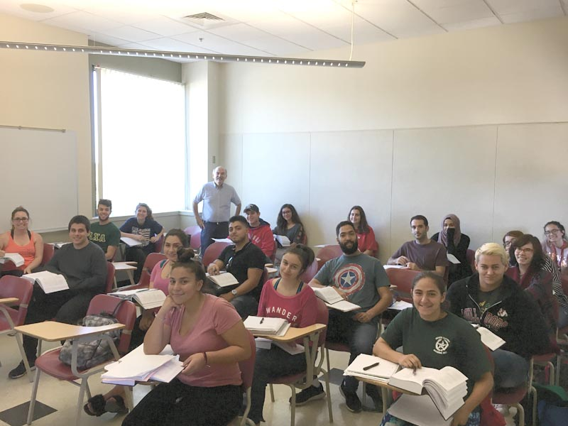 Twenty-one students are taking the Elementary Armenian language class with Prof. Barlow Der Mugrdechian. Photo: Michael Rettig