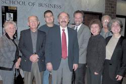 L to R: Alice Bulbulian, Dr. Dickran Kouymjian, Sevag Tateosian, Barlow Der Mugrdechian, Jeff Masarjian, Zaroohi Der Mugrdechian, Berge Bulbulian, and Laurie Rothstein of ATP.