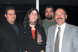 Left to Right: Sevag Tateosian, Micheline Marcom, Michael Harutinian, Barlow Der Mugrdechian.
