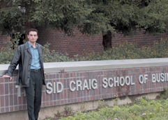 Vahan Papyan is studying for his MBA at Fresno State.