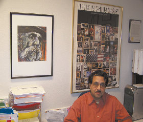 Debashis Bandopadhyay in the ASP office