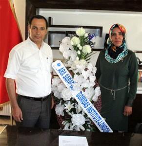 Bitlis co-mayors Nevin Daşdemir Dağkıran, right, and Hüseyin Olan