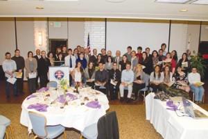 Student scholarship recipients at the ASP Annual Banquet. Photo: Joseph Vasquez
