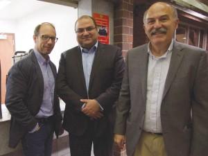 Left to right: Dr. Sergio La Porta, Dr. Bedross Der Matossian, and Prof. Barlow Der Mugrdechian. Photo: Hourig Attarian