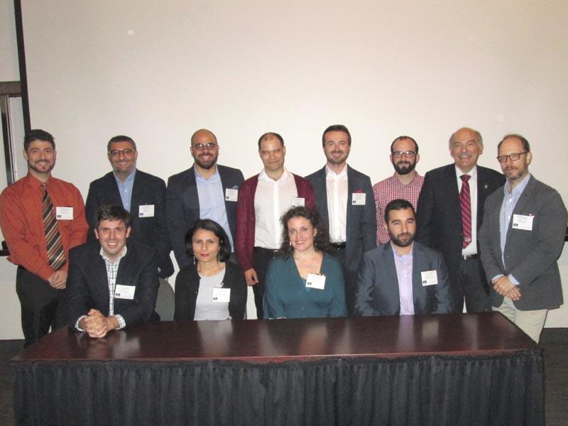 Front row, left to right: Dr. David Gutman, Dr. Nilay Özok- Gündoğan, Dr. Janet Klein, and Varak Ketsemanian. Back row, left to right: Prof. Hagop Ohanessian, Dr. Ümit Kurt, Emre Can Dağlioğlu, Dr. Owen Miller, Dr. Uğur Z. Peçe, Michael Rettig, Prof. Barlow Der Mugrdechian, and Dr. Sergio La Porta. Photo: David Safrazian